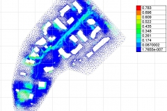 Rendu de la modélisation 2D (hauteur de submersion)