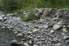 Etude des berges d'un cours d'eau